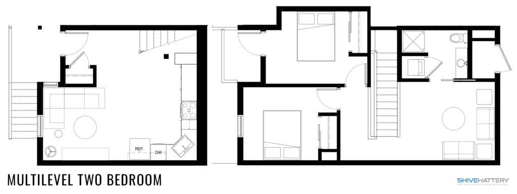 Multilevel Two Bedroom