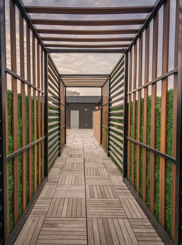 Apartment Patio Walkway